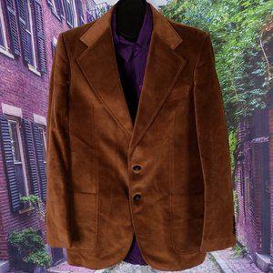 Vintage Sartoria Italian Velour 3pc Suit, 40R